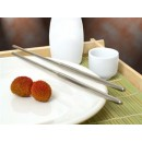 Chopsticks, Stainless Steel, 9''L, Hollow, Dishwasher Safe (6 Pairs Per Pack) (1 Pack/Unit) width=