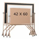 Aarco-RC4260-Reversible-Free-Standing-Composition-Chalkboard-with-Oak-Frame-42--x-60--