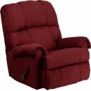 Flash Furniture Contemporary Tahoe Burgundy Chenille Rocker Recliner [WM-8700-213-GG] width=