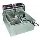 Grindmaster-Cecilware EL2X15 Commercial Countertop Electric Deep Fryer with Two 15 Lb. Tanks - 120V width=