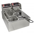 Grindmaster-Cecilware-EL2X6-Commercial-Countertop-Electric-Deep-Fryer-with-Two-6-Lb--Tanks---120V