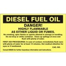 Diesel Fuel Oil Danger! Highly Flammable As Either Liquid Or Fumes. No Smoking Open Flames Or width=