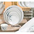 Thunder Group 1304BB Blue Bamboo Dinner Plate 4-3/4