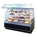 Display-Case--Bakery--59---X-38---X-48---H--Pneumatic-Cylinder-Assisted-Curve-Tempered-Glass-Front-1-Each-Unit-