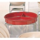 "Thunder Group NS608-1R Nustone Tan Red Deep Divided Server with Lid 8-1/4"" (1 Dozen) width="