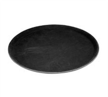 Winco TRH-11K Black Easy Hold Round Tray, 11'' Dia.