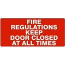 Fire Hose (Red On Wht Down Arrow) [20X4 Plastic] width=