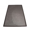 Winco RBM-35K Black Anti-Fatigue Floor Mat 3' X 5' width=