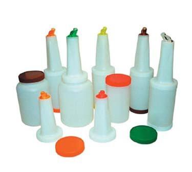 Winco PPB-2O Liquor and Juice Multi Pour with Spout and Lid, Orange 2 Qt.
