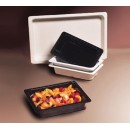 "GET Enterprises ML-18-BK Black Melamine Half Size Insert Pan, 2-1/2""Deep (3 Pieces) width="
