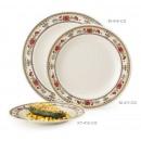"""GET Enterprises KT-415-CG Garden Dynasty Melamine Round Plate, 12""""(1 Dozen) width="""
