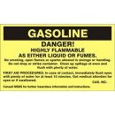 Gasoline Danger! Highly Flammable As Either Liquid Or Fumes. No Smoking Open Flames Or Sparks width=