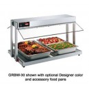 Glo-Ray Buffet Warmer, Countertop Unit W/Heated Base, W/Buffet Style Sneeze Guards, With width=