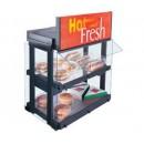 Glo-Ray Mini-Merchandising Warmer, Countertop Unit W/Heated Glass Shelf, Sneeze Guard And Display width=
