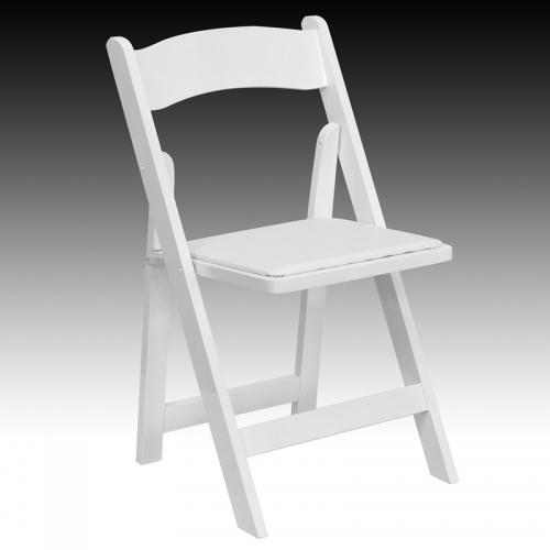 Flash Furniture Hercules Series White Wood Folding Chair