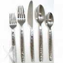 10 Strawberry Street HAMF-DF Hammered Forge Dinner Fork 18/0 - Case of 12 width=