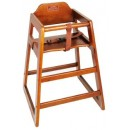 Winco CHH-104A Walnut Finish Wooden Stacking High Chair, Assembled width=