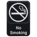 Winco SGN-601 Information Sign ''No Smoking'' 6'' X 9'' width=