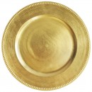 Jay Imports TRG-6655 Round Gold Beaded Charger Plate width=