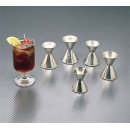 Jigger 1 Oz./1-1/4 Oz. Stainless Steel Rolled Edge width=