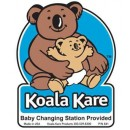 Koala Door Decal, 4'' X 4.5'', (Applies To Restroom Door) width=