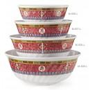 GET Enterprises M-609-L Longevity Melamine Fluted Bowl, 74 oz. (1 Dozen) width=
