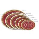 "GET Enterprises M-408-L Longevity Melamine Oval Platter, 8""(1 Dozen) width="