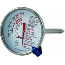 "Winco TMT- MT2 Dial Type Meat Thermometer with Stem 2"" width="