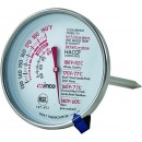 "Winco TMT- MT3 Dial Type Meat Thermometer with Stem 3"" width="