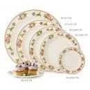 "GET Enterprises KT-415-TR Tea Rose Melamine Round Plate, 12""(1 Dozen) width="