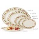 "GET Enterprises M-4050-TR Tea Rose Melamine Oval Platter, 9""(1 Dozen) width="