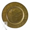 "10 Strawberry Street BRN-340 Metallic Brown Glass Charger Plate 13"" (Set of 4) width="