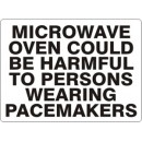 Microwave Oven Could Be Harmful To Persons Wearing Pacemaker [14X20 Plastic] width=
