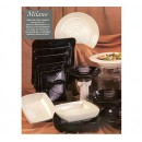 GET Enterprises ML-13-BK Milano Black Bowl, 3 Qt. (6 Pieces) width=