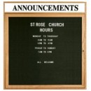 """Aarco ODC3636H 1 Door Enclosed Changeable Letter Board with Oak Finish and Header 36"""" x 36"""" width="""