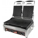 Grindmaster-Cecilware SG2LG Double Panini Sandwich Grill, Grooved Surface - 240V width=