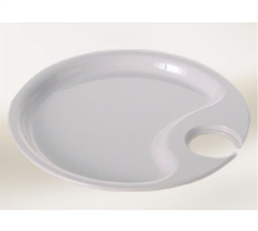 """Thunder Group RF7010W Black Pearl White Party Plate 10-1/2"""""""