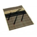 Placemat & Chopstick Set, 12'' X 18'', Includes: (4) Placemats & (4) Pairs Of 9-1/4'' Black Lacquer width=