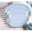"Thunder Group 2914 Blue Jade Oval Plate 14""  (6 Pieces) width="