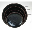 Thunder-Group-1816TM-Tenmoku-Lotus-Shape-Plate-16-quot---1-Dozen-