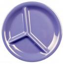 "Thunder Group CR710BU Purple Melamine 3-Compartment Plate 10-1/4"" (1 Dozen) width="