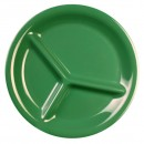 Thunder-Group-CR710GR-Green-Melamine-3-Compartment-Plate-10-1-4-quot---1-Dozen-