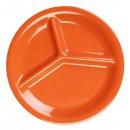 """Thunder Group CR710RD Orange Melamine 3-Compartment Plate 10-1/4"""" (1 Dozen) width="""
