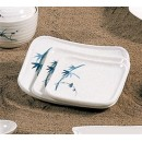 Thunder Group 1202BB Blue Bamboo Square Plate 5-1/2