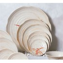 "Thunder Group 1806 Gold Orchid Lotus Shape Plate 6"" (1 Dozen) width="