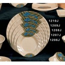 Thunder Group 1206J Wei Curved Rim Round Plate 6
