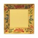 """GET Enterprises ML-102-VN Venetian Square Melamine Plate, 6""""(1 Dozen)  width="""