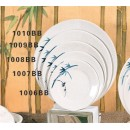 "Thunder Group 1006BB Blue Bamboo Round Plate 6-1/5"" (1 Dozen) width="