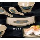"""Thunder Group 1504J Wei Rectangular BBQ Plate 6-3/4""""  x  4-1/2""""  (1 Dozen) width="""