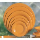Thunder Group CR009YW Yellow Melamine Wide Rim Round Plate 9-1/4